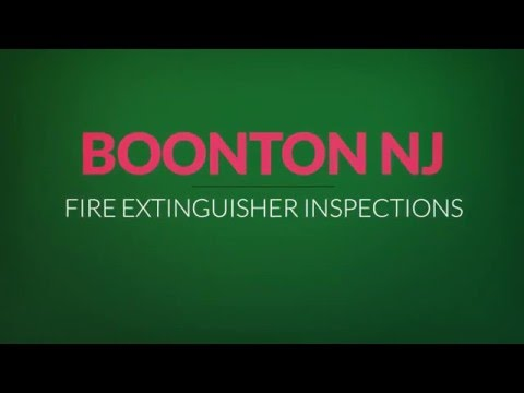 Boonton NJ Fire Extinguisher Inspections