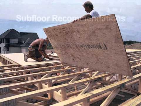 Subflooring-Building Better Homes Mark LaLiberte