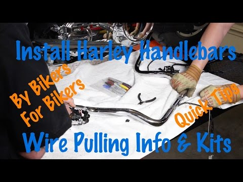 Pull Wires Through Harley or Motorcycle Handlebars-Kits, Tips, Tricks-Motorcycle Biker Podcast