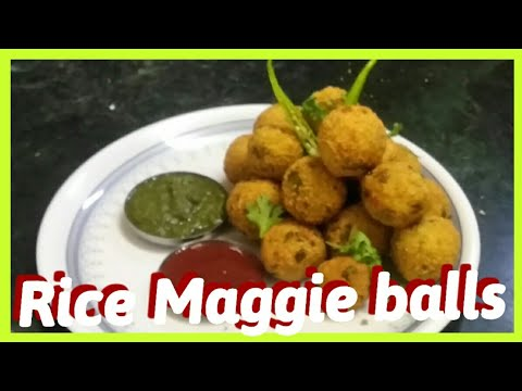 HOW TO MAKE. RICE MAGGIE BALLS