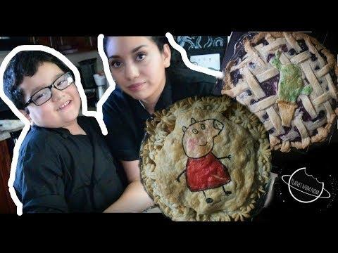 Pie con diseño Peppa pig / Peppa pig pie