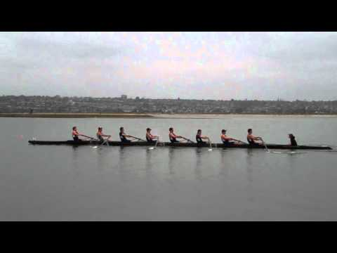 Second varsity 8 heat at the 2012 crew classic (cal 'a' and cal 'b')