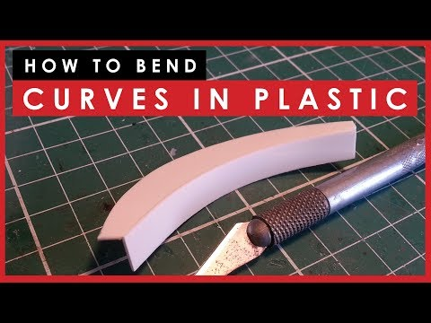 How to bend curves in styrene or plastic for scale models