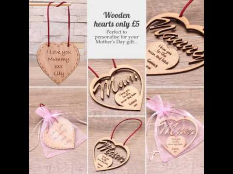 Personalised wooden hearts