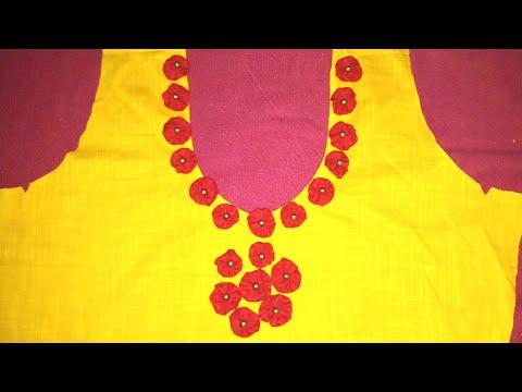 kurti back neck design cutting and stitching..