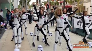 Annalynne McCord is a Beverly Hills Storm Trooper!
