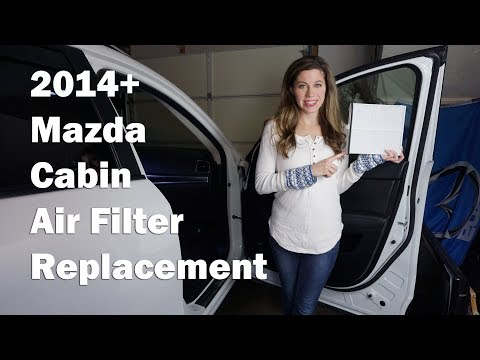 HOW TO REPLACE CABIN AIR FILTER - ALL MAZDA's 2014+