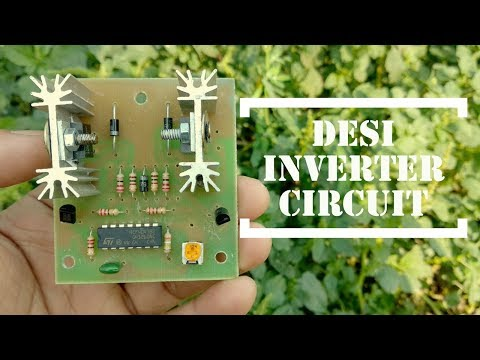 DIY || How to Make simple inverter at home ||   Runs fan, charger, bulbs, mixer grinder etc