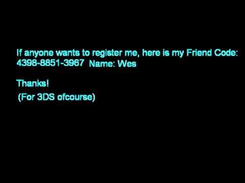My 3DS Friend Code for Pokémon X and Pokémon Y!