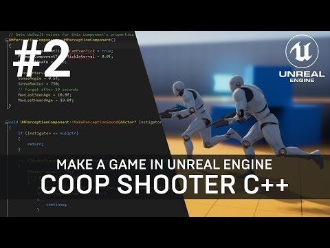 Unreal Engine C++ Tutorial - Multiplayer Shooter Game with AI (Part 2)