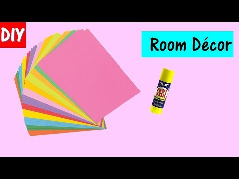 diy wall hanging idea with paper | paper craft ideas for room decoration | wall decor | paper crafts
