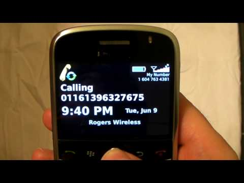 How to make a Blackberry call with CellSaver.ca