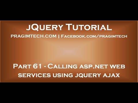 Calling asp net web services using jquery ajax