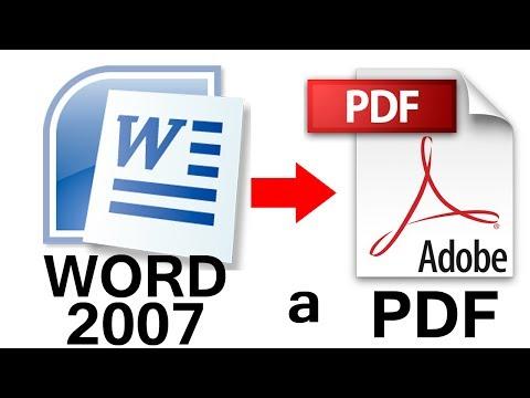 Como Convertir de Word 2007 a PDF PASO a PASO Fácil