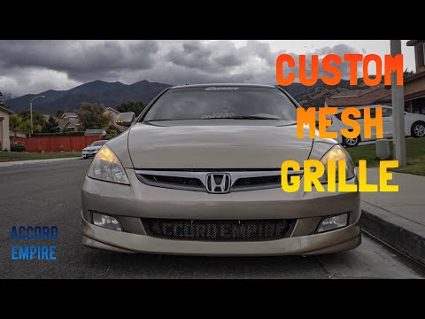 How to Make Custom Mesh Grille Guard With Letters - Accord Empire