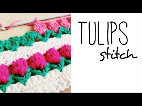 How to crochet TULIP STITCH ♥ CROCHET LOVERS