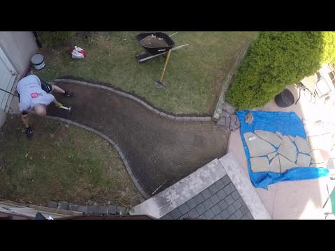 DIY Walkway Restoration Project using Paver Set by Sakrete