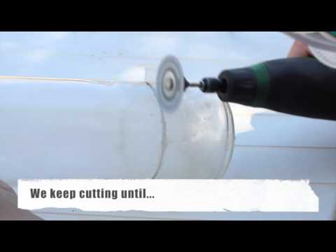 How to cut a glass bottle - DIY
