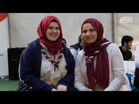 Strangers break bread at Ramadan tent in London park