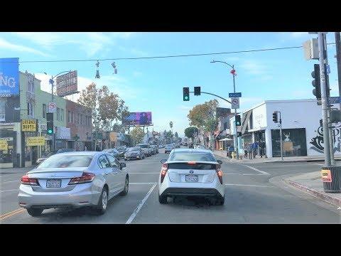 Driving Downtown 4K - LA Shopping Destination - Los Angeles USA