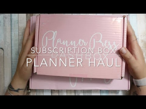 PLANNER SUBSCRIPTION BOX   MAY UNBOXING