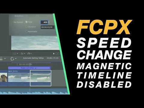 Final Cut Pro X Tutorial: Speed Adjustments Without Magnetic Timeline Moving Your Entire Edit