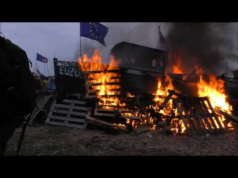 Burning EU flags In the UK
