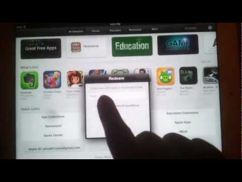 How to use Redeem Codes in Apple App Store