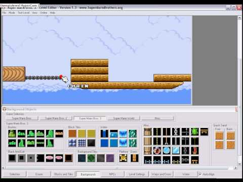 SMBX Tutorial: How to make moving platforms, layers, events and an airship in Super Mario Bros X