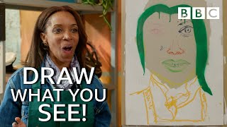 Celebrities painted her like this! - Celebrity Painting Challenge   BBC