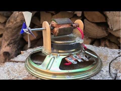 Experiment electric high speed dc motor with speaker magnet