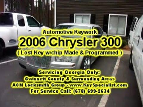 Locksmith in Atlanta GA: 2006 Chrysler 300 - Lost Key Replacement Made!