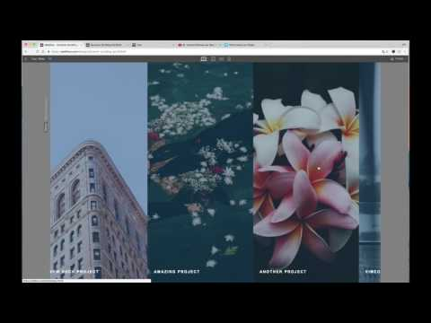 Webflow Dynamic Horizontal Scrolling Portfolio Tutorial