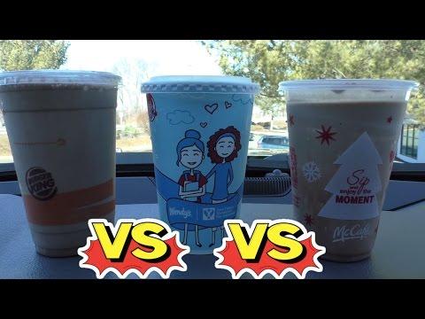 McDonalds Vs Burger King vs Wendys Milkshake