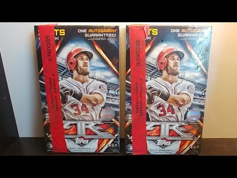 Two 2017 Topps Fire Baseball cards retail collector boxes (Group break)