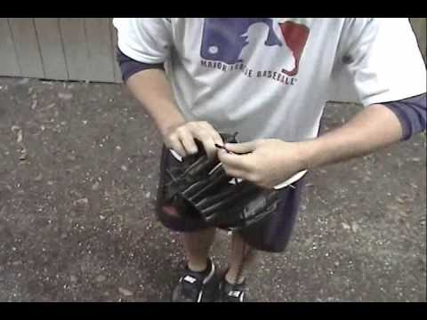 How To Relace or Restring the Fingers of a Baseball Glove (6 of 6)