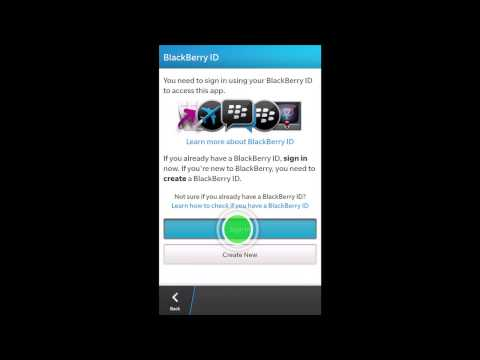 How to transfer BlackBerry Messenger contacts to BlackBerry 10 using BlackBerry ID