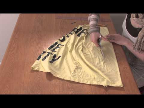 How to Cut a T-Shirt Into a Racerback Braided Tank Without Sewing : DIY Shirt Designs