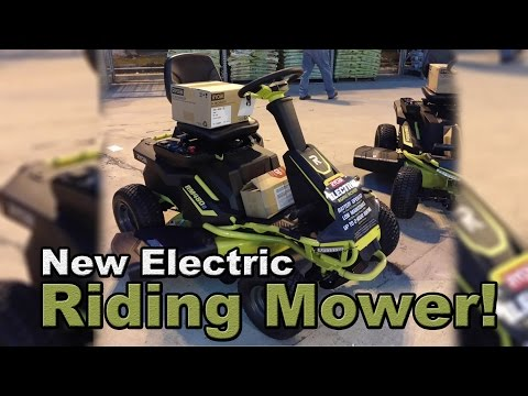 NEW Electric Riding Mower at Home Depot by Ryobi discovered!