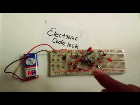 Electronic code lock system using ic4017