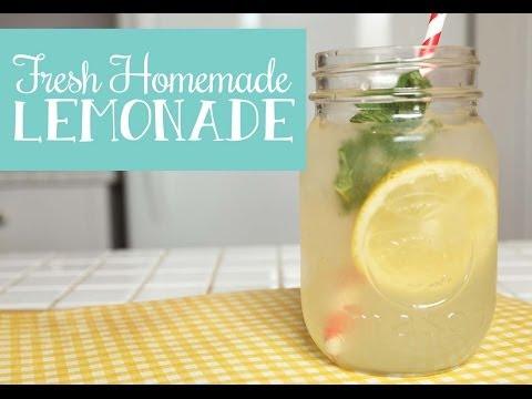 The Domestic Geek: Fresh Homemade Lemonade Recipe