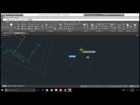 drawing a plot plan in degrees and minutes  - autocad lines in degrees and minutes