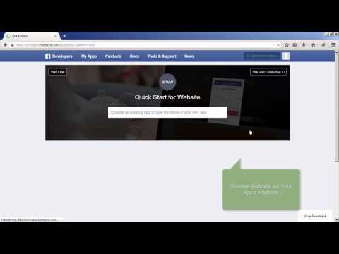 How to Get an App ID and Secret Key from Facebook