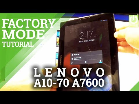 Factory Mode Lenovo A10-70 A7600 - How to Enter / Quit