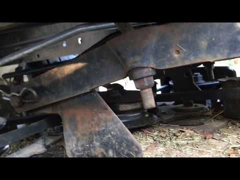 Tighten the Blade Belt and Level the Deck Riding Mower Lawn Tractor Craftsman Murry