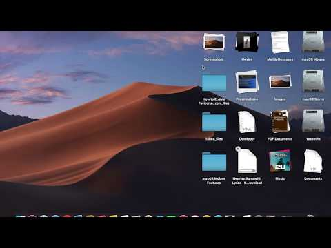 macOS Mojave : Using Stacks and Scrubbing Stacks feature