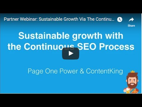 Partner Webinar: Sustainable Growth Via The Continuous SEO Process
