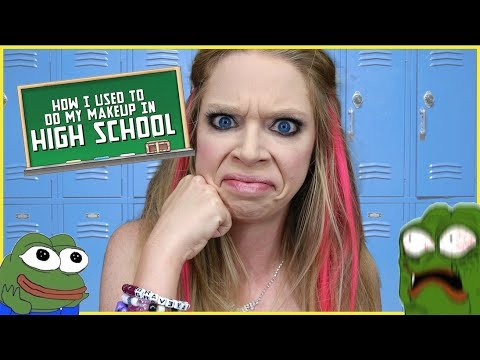 HOW I DID MY MAKEUP IN HIGH SCHOOL | GRAV3YARDGIRL