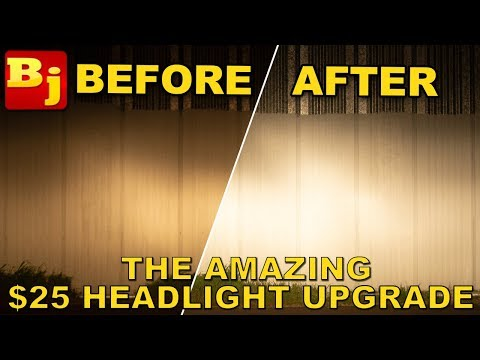 The Best $25 Jeep Upgrade - Make Your Stock Headlights AWESOME!