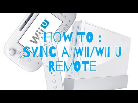 How To : Sync a Wii remote to a Wii/Wii U | E 🐶